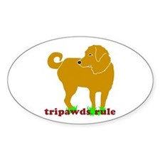 Golden Tripawds Rule Decal