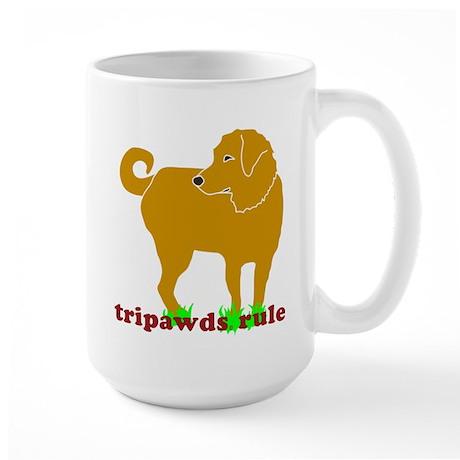 Golden Tripawds Rule Large Mug