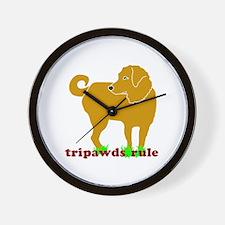 Golden Tripawds Rule Wall Clock