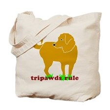 Golden Tripawds Rule Tote Bag