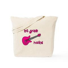 1st Grade Rocks! Guitar Tote Bag