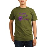 1st Grade Rocks! Guitar Organic Men's T-Shirt (dar