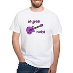 1st Grade Rocks! Guitar White T-Shirt