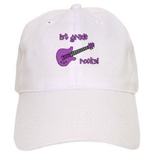 1st Grade Rocks! Guitar Baseball Cap