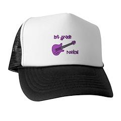 1st Grade Rocks! Guitar Trucker Hat