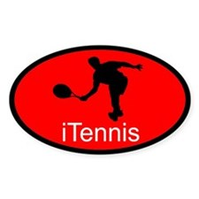 iTennis Red Oval Decal