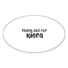 Thank God For Kiera Oval Decal
