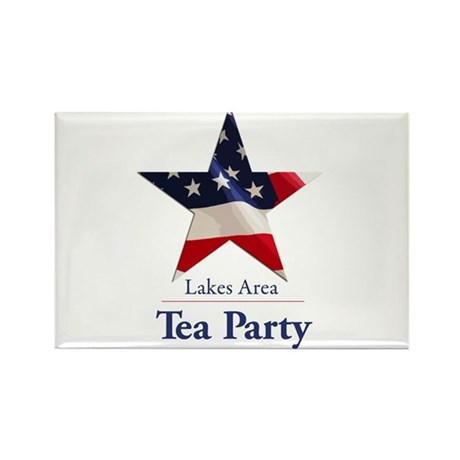 Lakes Area Tea Party Rectangle Magnet (10 pack)
