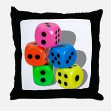 Dice Colorful Throw Pillow