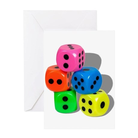Dice Colorful Greeting Card
