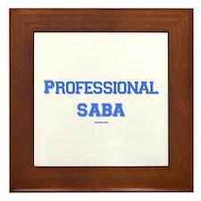 Professional Saba Hebrew Framed Tile