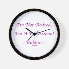 Professional Bubbie Yiddish Wall Clock