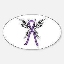 Tribal Butterfly Sticker (Oval)