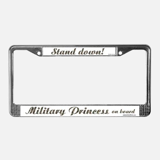 Military Princess License Plate Frame
