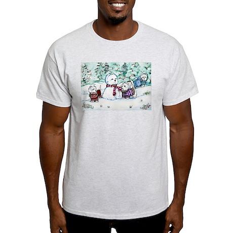 Winter Westie Snowman Light T-Shirt