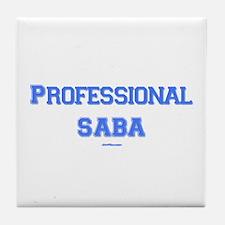 Professional Saba Hebrew Tile Coaster