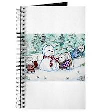 Winter Westie Snowman Journal