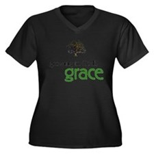 Growing In God's Grace Women's Plus Size V-Neck Da