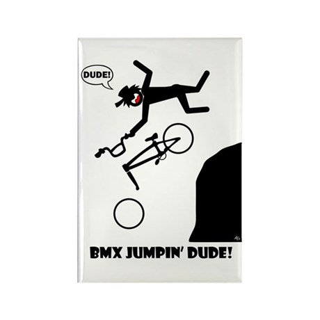 BMX JUMPIN' DUDE Magnets, Sti Rectangle Magnet (10