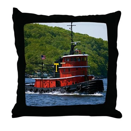 Sub Tug Throw Pillow