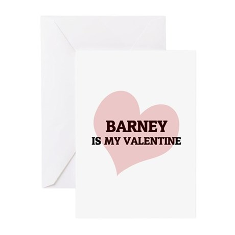 Barney Is My Valentine Greeting Cards (Package of