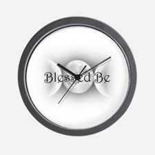 Blessed Be (triple crescent) Wall Clock