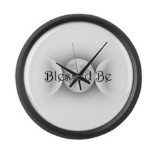 Blessed Be (triple crescent) Large Wall Clock