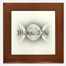 Blessed Be (triple crescent) Framed Tile