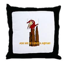 Smoking dragon Throw Pillow