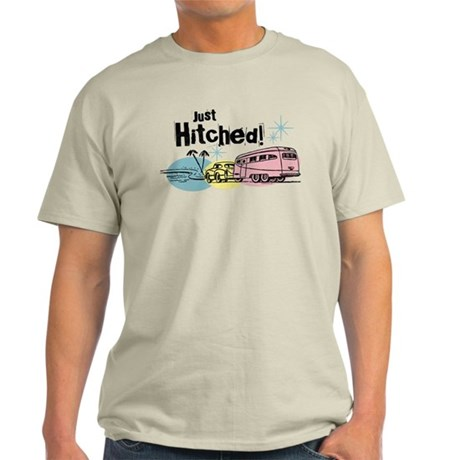 Retro Trailer Just Hitched Light T-Shirt
