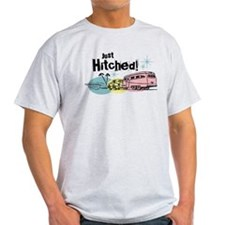 Retro Trailer Just Hitched T-Shirt