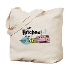 Retro Trailer Just Hitched Tote Bag
