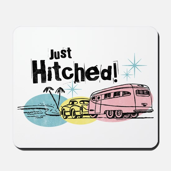 Retro Trailer Just Hitched Mousepad