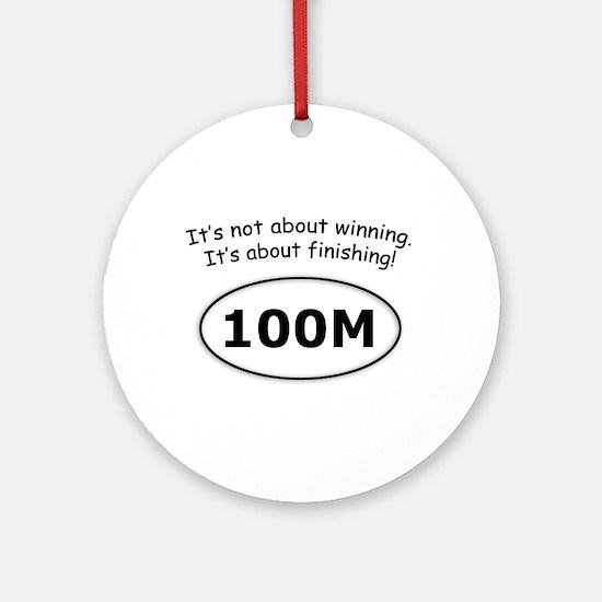 100 Miler Ornament (Round)