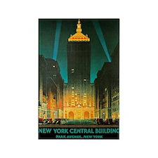 Vintage New York Central Building Rectangle Magnet
