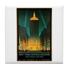 Vintage New York Central Building Tile Coaster