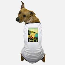 Vintage Amalfi Italy Travel Dog T-Shirt