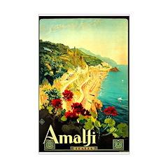 Vintage Amalfi Italy Travel Posters