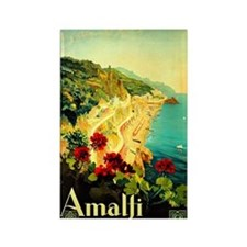 Vintage Amalfi Italy Travel Rectangle Magnet