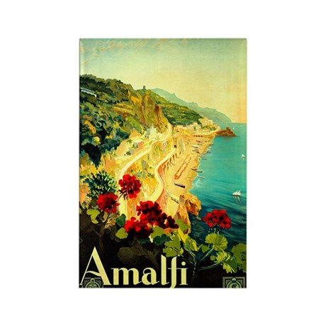 Vintage Amalfi Italy Travel Rectangle Magnet