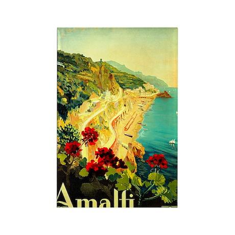 Vintage Amalfi Italy Travel Rectangle Magnet (10 p