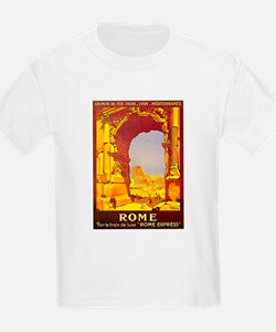 Vintage Rome Express Train Deluxe T-Shirt