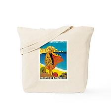 Vintage La Plage de Calvi 1928 Tote Bag