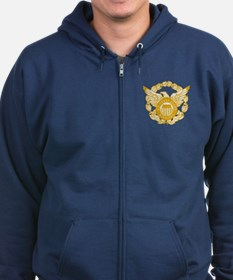 Coast Guard Auxiliary Eagle Zip Hoodie