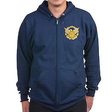 Coast Guard Auxiliary Eagle Zip Hoody
