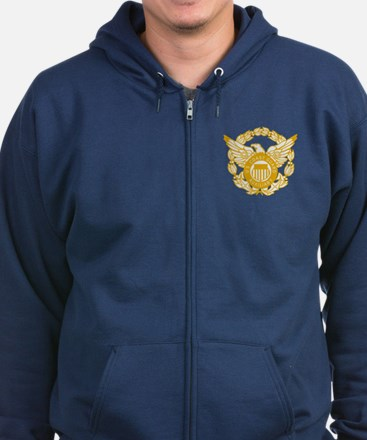 Coast Guard Auxiliary Eagle Zip Hoody