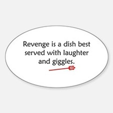 Revenge shirt Oval Decal