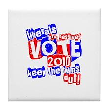 Vote 2010 Tile Coaster