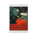Army Air Service American Eagle Rectangle Magnet (
