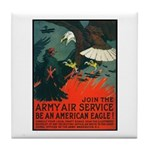 Army Air Service American Eagle Tile Coaster